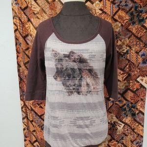 We the free wolf shirt